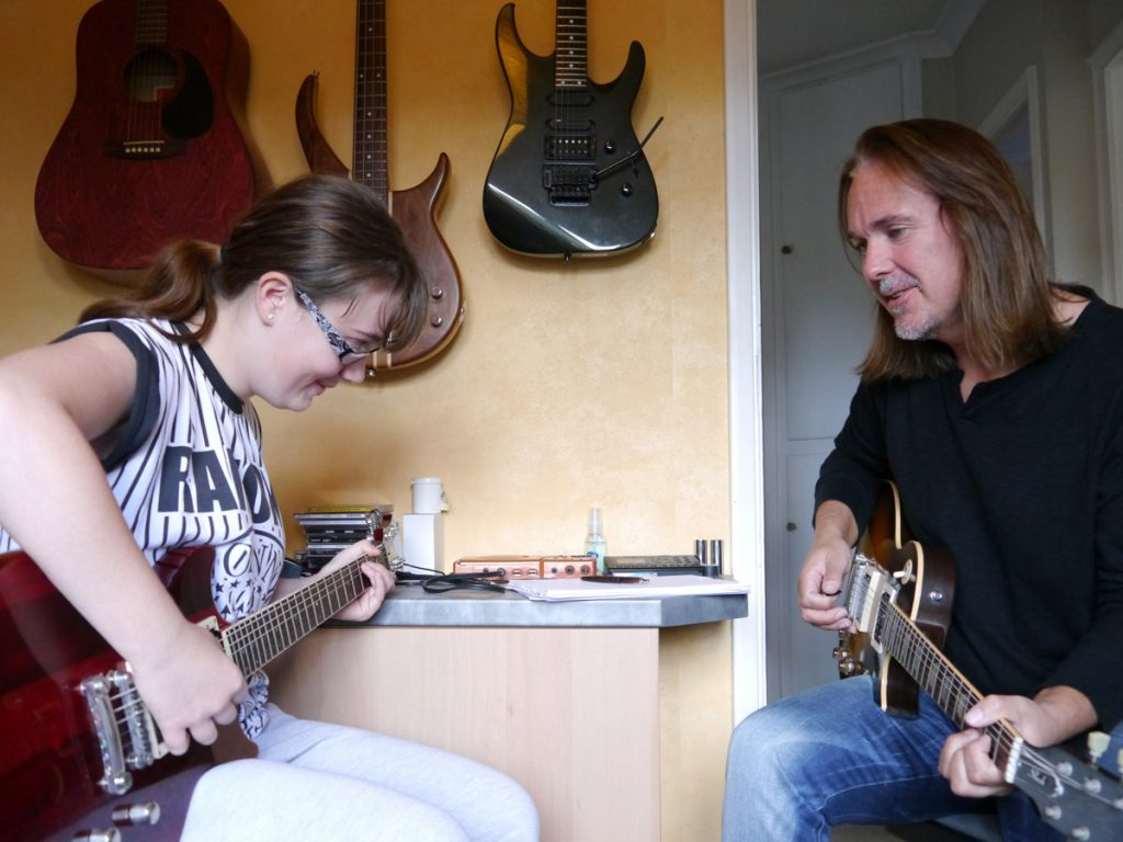 Simon Guitar Lesson Photo